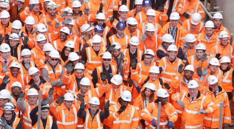 Secretary of State for Transport & Crossrail Chairman meet Crossrail's 400th apprentice