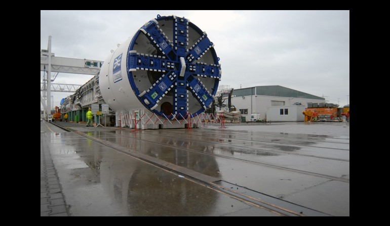 Crossrail tunnel boring machine, December 2011