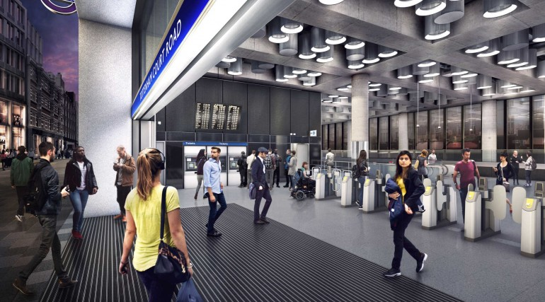 03 Tottenham Court Road station - proposed station entrance at Dean Street_236015
