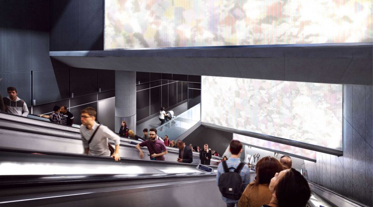 03 Tottenham Court Road station - proposed escalator leading from Dean Street ticket hall_236018