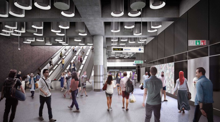 03 Tottenham Court Road station - proposed platform level concourse at Dean Street entrance_236019