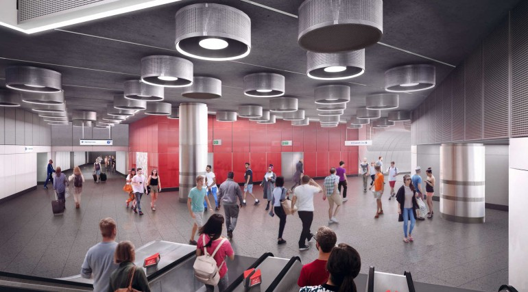 03 Tottenham Court Road station - proposed platform level concourse at St Giles Circus entrance_2360
