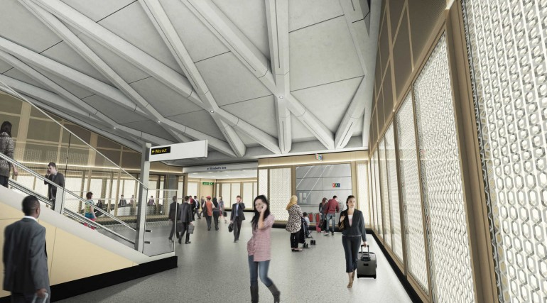 04 Farringdon station - proposed station concourse at Cowcross Street entrance_236028