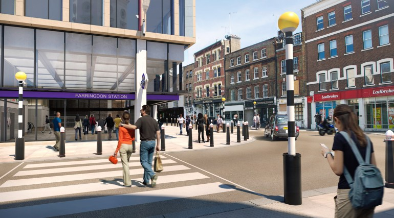 04 Farringdon station - view of proposed Long Lane station entrance from Lindsay Street_240072