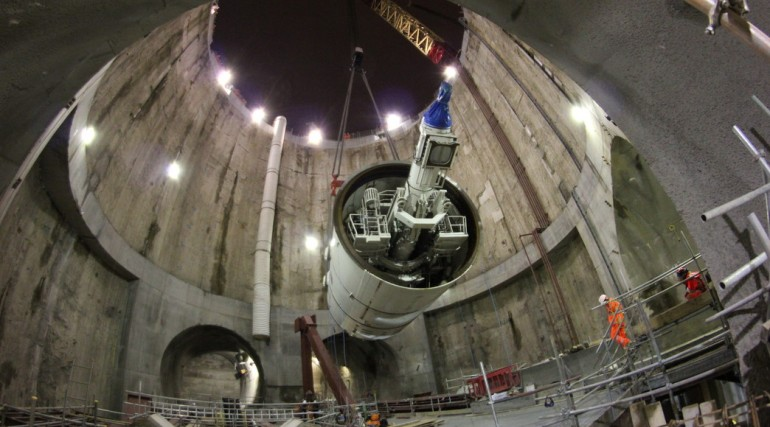 TBM Elizabeth lowered into main shaft 25 October 2012_49147