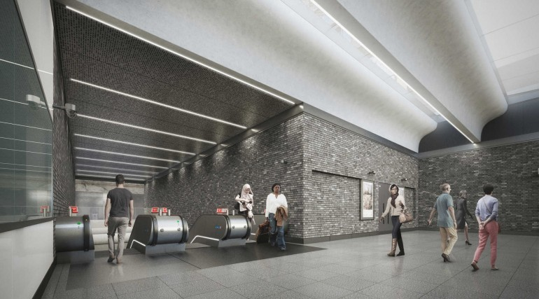 09 Woolwich station - proposed escalator leading to platform level_236003