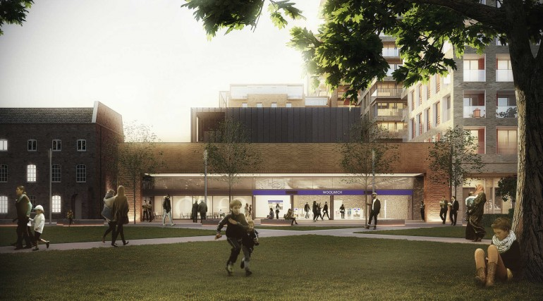 09 Woolwich station - proposed station entrance on Dial Arch Square_235995