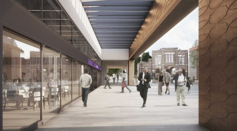 09 Woolwich station - proposed station entrance on Dial Arch Square_235998