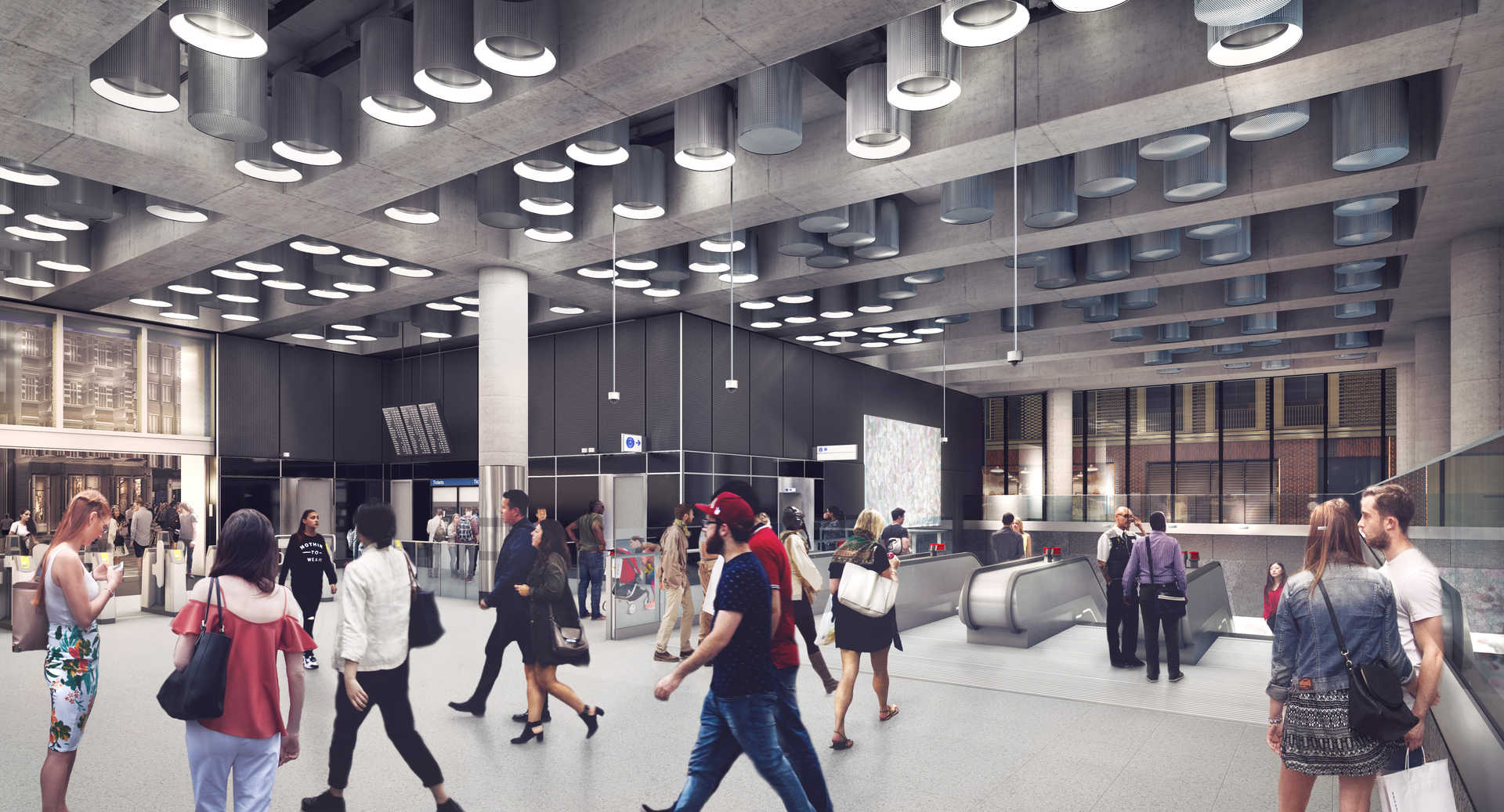 03 Tottenham Court Road station - proposed ticket hall at Dean Street_236017