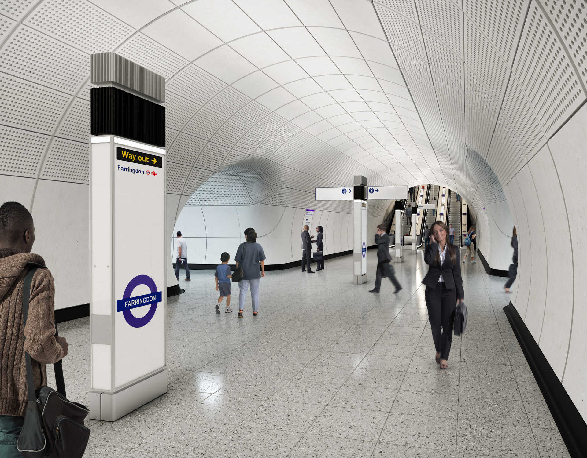 04 Farringdon station - proposed platform level concourse_236036