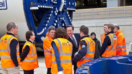 Prime Minister visits Crossrail to view tunnel boring machines