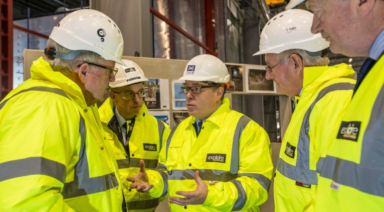 115060_Transport Secretary visits Midlands factory building Crossrail Custom House station