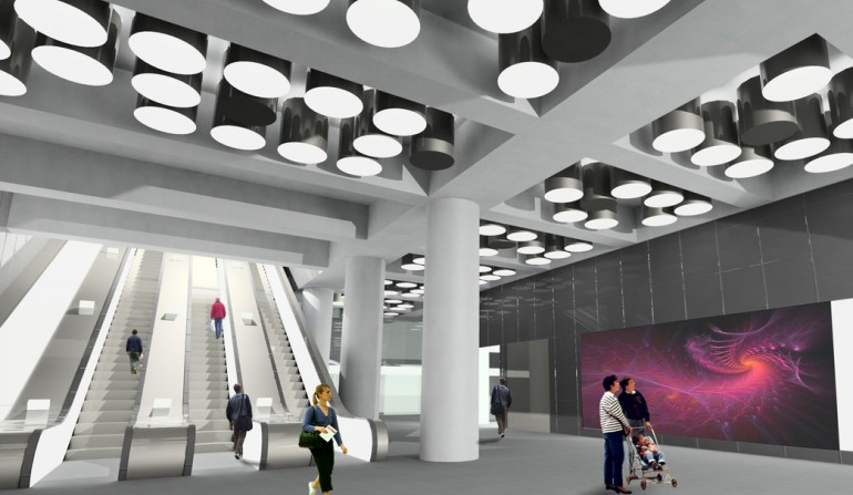 Tottenham Court Road - architects impression of western ticket hall
