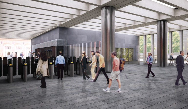 Bond Street Station - architects impression