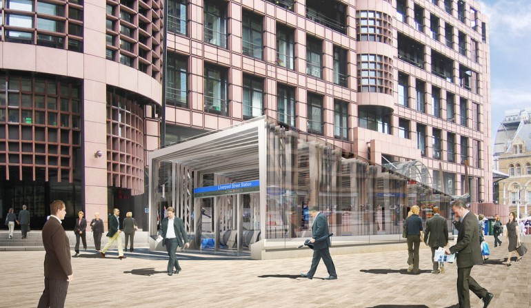 Liverpool Street Station - architects impression