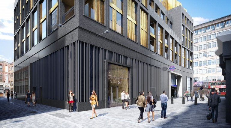 Tottenham Court Road station - proposed station entrance at Dean Street ticket hall