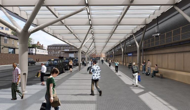Architects impression of new taxi Deck at Paddington