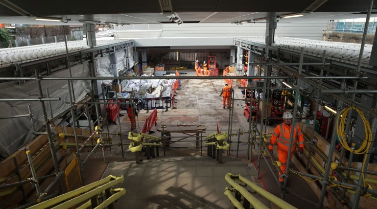 Whitechapel Station Construction Progress_321726