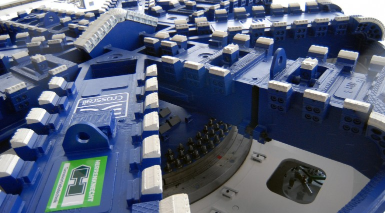 Crossrail tunnel boring machine cutterhead