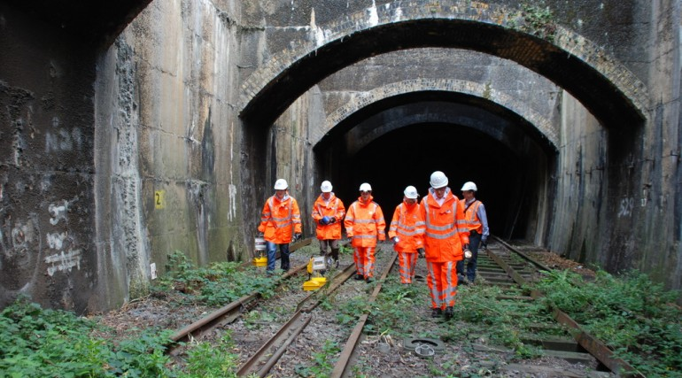 Archaeologists at Connaught Tunnel