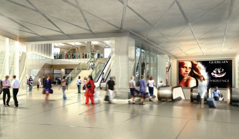 Farringdon Station - architects impression