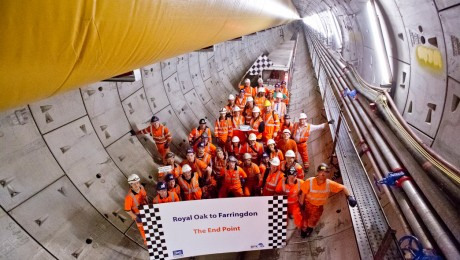 First Crossrail tunnelling machine completes her journey