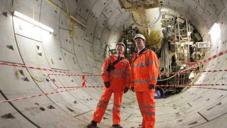Crossrail reveals first completed train tunnel