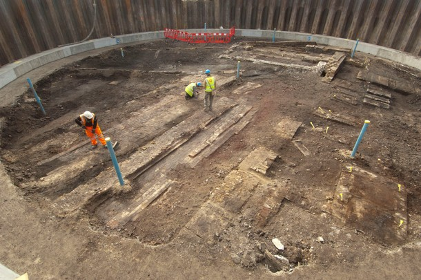 Crossrail uncovers remains of historic Thames Ironworks and Shipbuilding Company