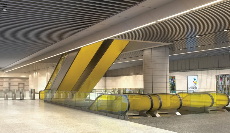 Canary Wharf Station - architects impression