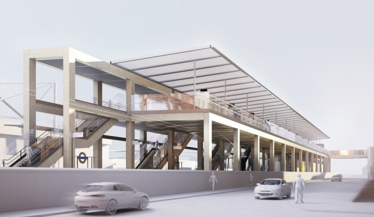 Custom House Station - architects impression