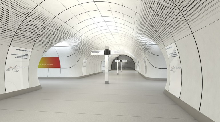 Architects impression of a typical Crossrail central London Station_1141