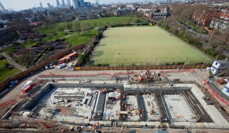 Stepney Green worksite, March 2012