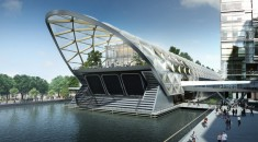 Architects impression of Canary Wharf Crossrail Station