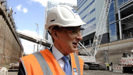 Transport Secretary visits future Crossrail station at Canary Wharf