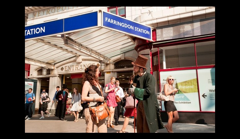 Farringdon exhibition gives commuters a taste of the past as station redevelopment nears end