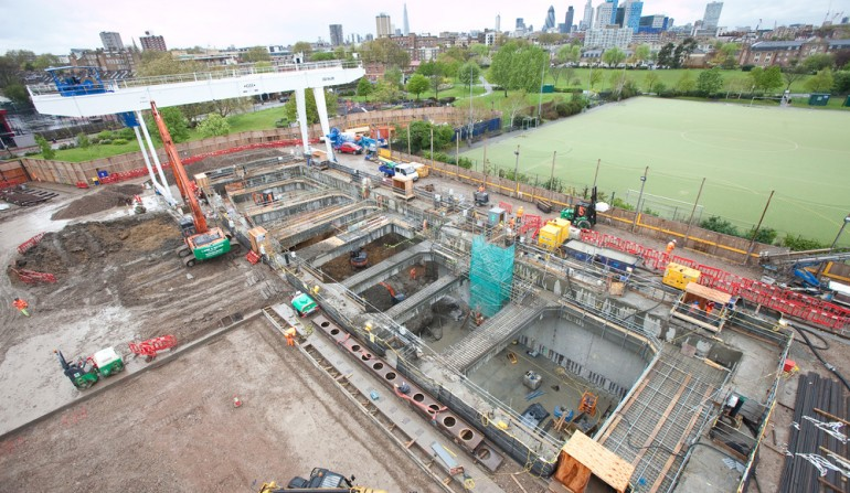 Stepney Green worksite, April 2012