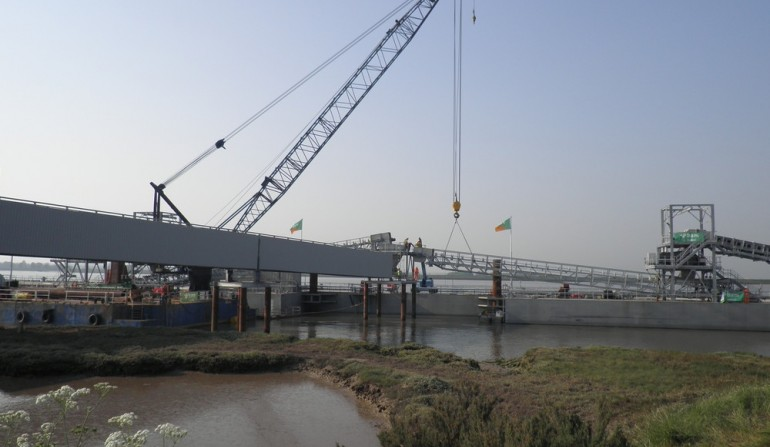 Wallasea Island jetty construction progress image