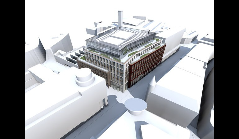 Farringdon Station over-site development - aerial view