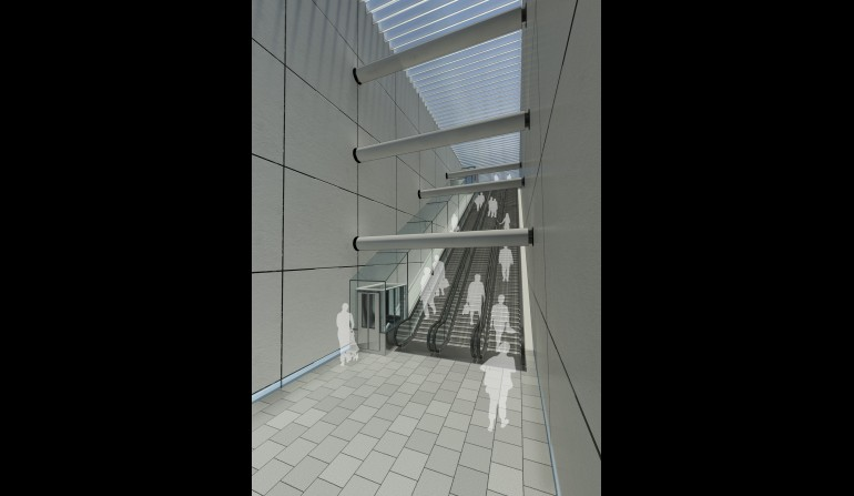 Liverpool Street Station - architects impression of incline lifts