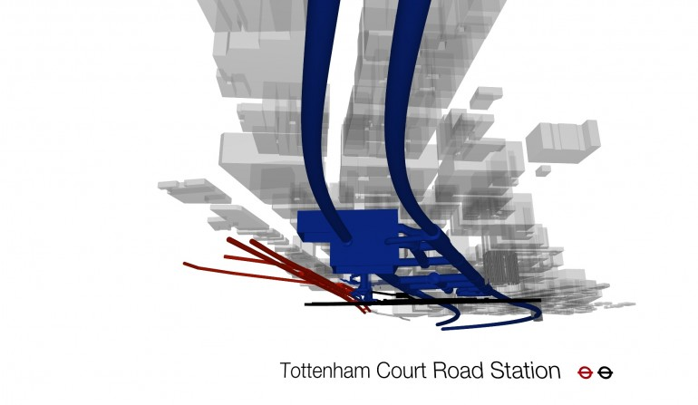 Tottenham Court Rd BIM Fly-through Still, May 2012