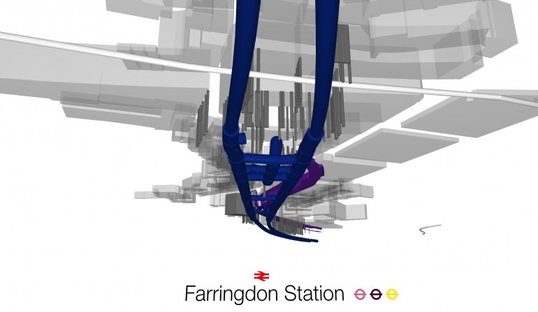 Farringdon BIM Fly-through Still, May 2012