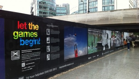 Crossrail construction site hoardings undergo a make-over