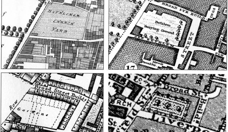 Liverpool Street archaeology map