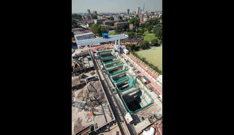 Stepney Green worksite, July 2012