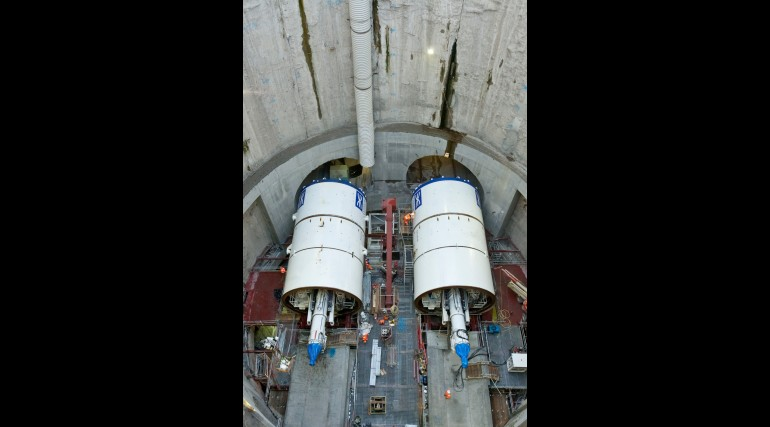 TBM Elizabeth and Victoria ready to dig, October 2012