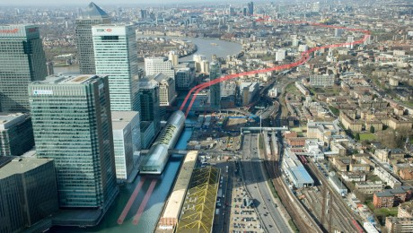 Canary Wharf Crossrail station takes shape as construction work ramps-up above and below ground