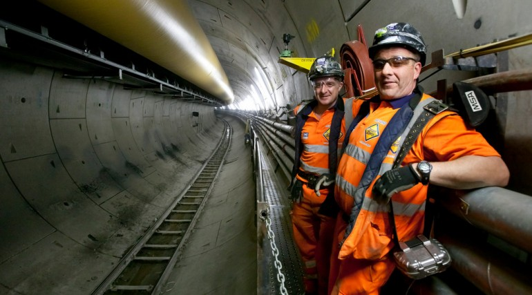 Crossrail western tunnels, October 2012