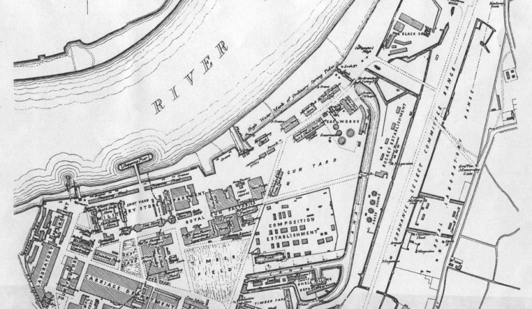 1877 map of Royal Arsenal