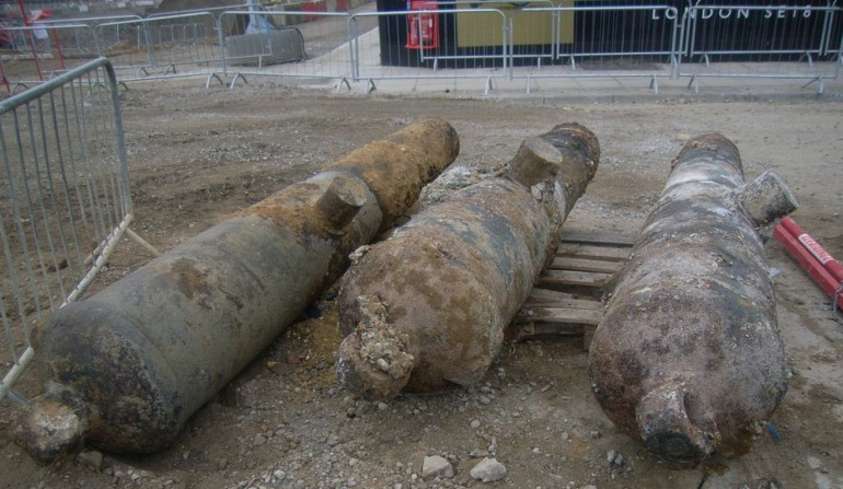 Canon discovered at Woolwich Arsenal site