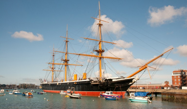 HMS Warrior, built at Thames Ironworks and Shipbuilding Company